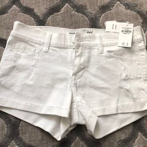 Women's white jean shorts